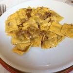 Agnolotti with porcinis